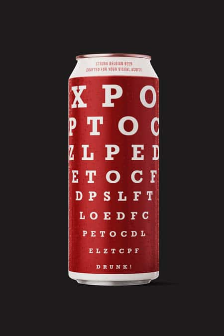 Strong Belgian beer crafted for your visual acuity.