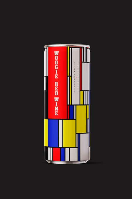 Mondrian inspired can