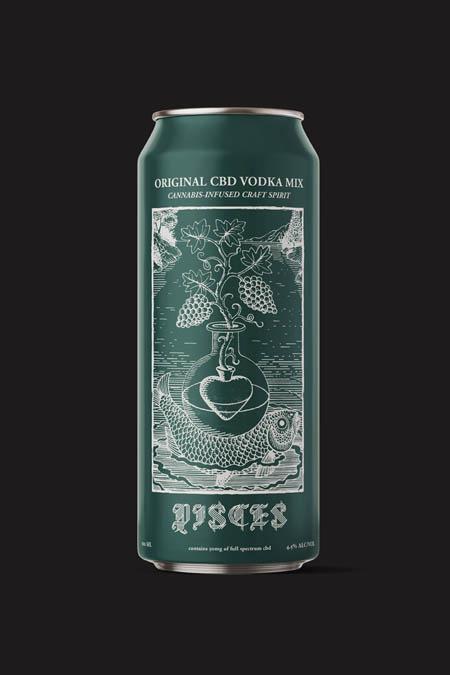 Original CBD vodka mix. Cannabis-infused craft spirit.