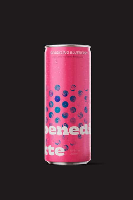 Danish cannabis-infused sparkling beverage with blueberry.