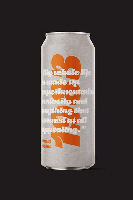 David Bowie tribute beer, featuring a 1983 quote by the artist.