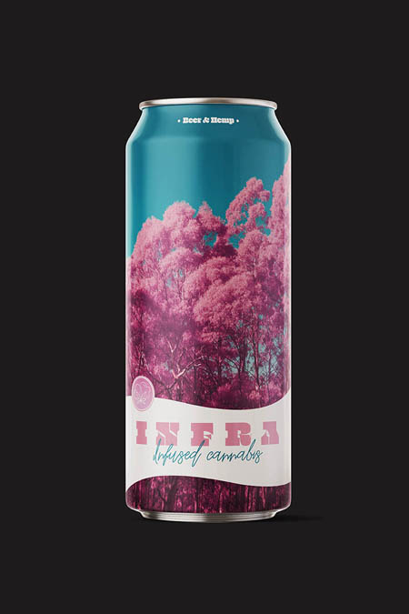 Infused-cannabis beer with a nice infrared look.