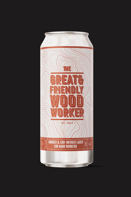 Smoked and CBD-infused Lager for hard workers.