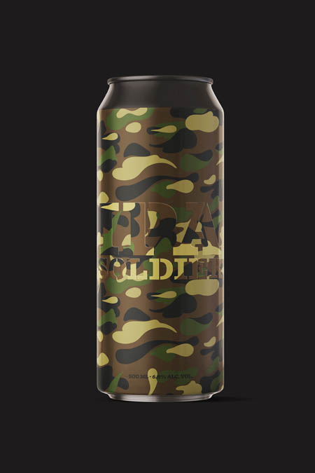 Strong and powerful IPA in camouflage fabric.