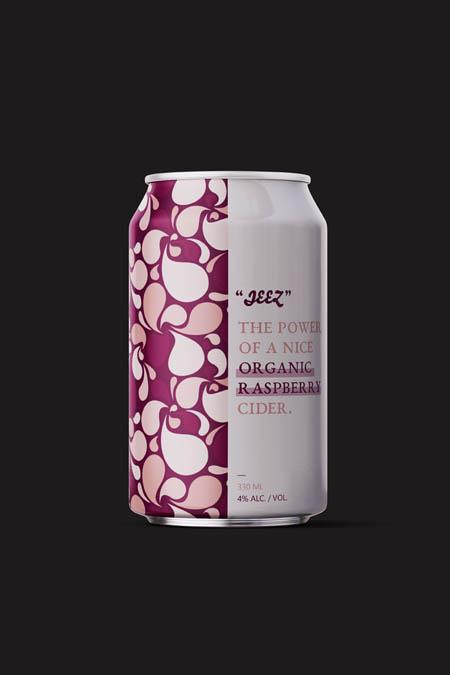 Organic raspberry cider