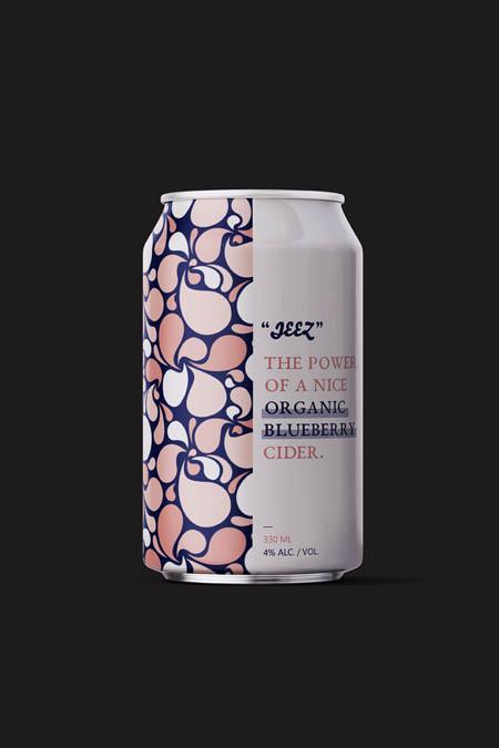 Organic blueberry cider