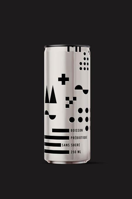 No sugar beverage with Bauhaus inspirations.